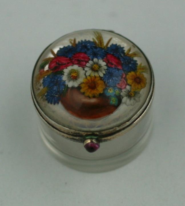 Edwardian Essex Crystal Rouge Pot