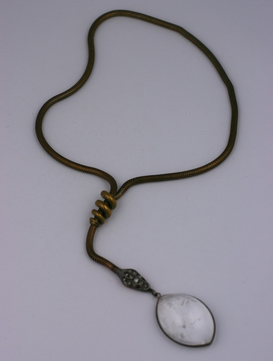 Snake Necklace with Rock Crystal Egg